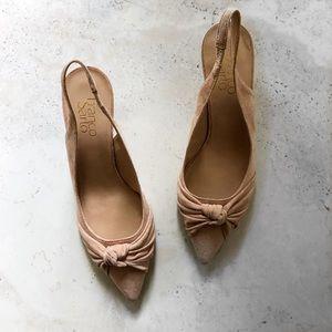 Franco sarto blush pink suede heels